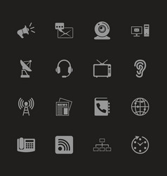 communication - flat icons vector image