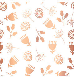 copper foil tulip flower seamless pattern vector image