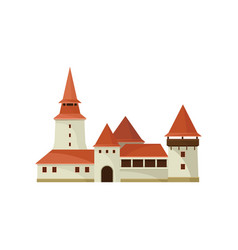 Corvin castle in hunedoara romania old romanian vector