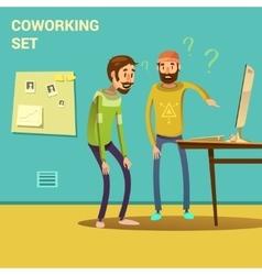 Coworking Set vector image