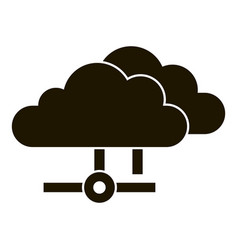 data cloud icon simple style vector image
