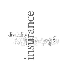 Disability insurance things to remember vector