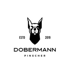 Dobermann pinscher dog logo icon vector