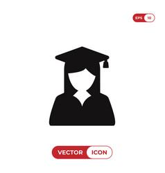 female graduate student icon vector image