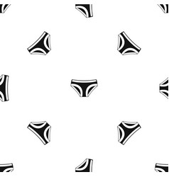 Female underwear pattern seamless black vector