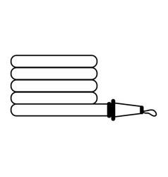 Fire extinguis hose vector