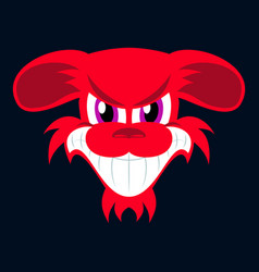 Flat icon on theme evil animal angry dog vector