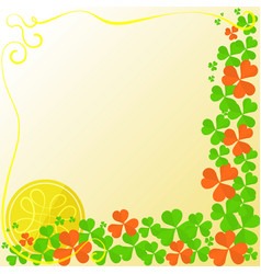 flyer for stpatricks day vector image