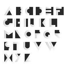 Geometric Retro Alphabet Art deco style Type font vector