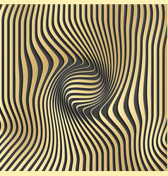 gold abstract stripe pattern backgroundoptical vector image