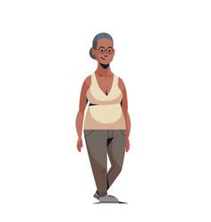 Happy elderly woman smiling casual african vector