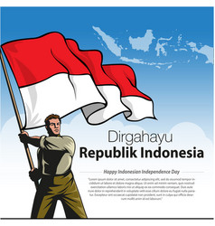 Happy indonesian independence day vector
