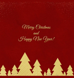 happy new year card merry christmas vector image
