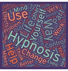 Hypnosis a part of life text background wordcloud vector image