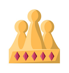 king crown icon image vector image