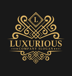 letter l - luxurious logo template vector image