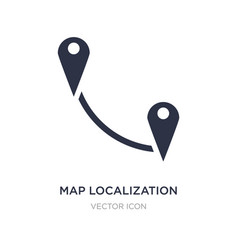Map localization icon on white background simple vector