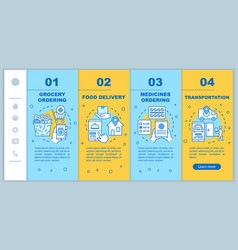 On demand industry onboarding mobile web pages vector