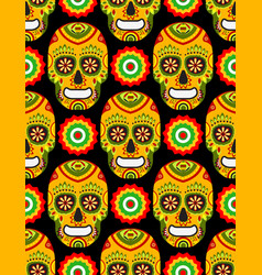 pattern for mexican day dead vector image