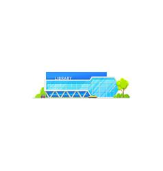 Public library building icon vector