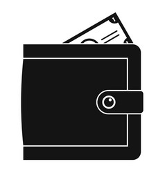 purse pay icon simple black style vector image