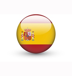 Round icon with national flag of Spain vector