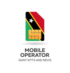 saint kitts and newis mobile operator sim card vector image