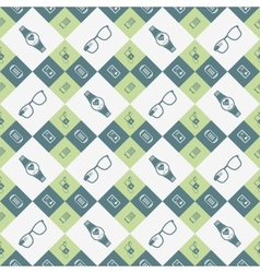 Seamless pattern of smart devices vector image