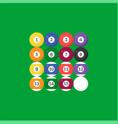 sequence billiard ball icon with number flat vector image