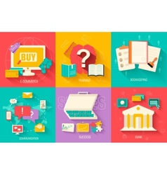 set of social business life icons design vector image