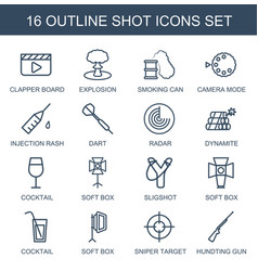shot icons vector image