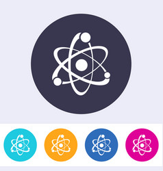 Single atom sign icon vector