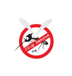 Stop mosquito Stop Dengue Sign vector
