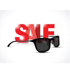 sunglasses sale sign vector image
