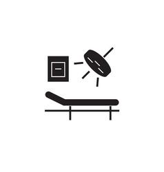 surgery room black concept icon surgery vector image