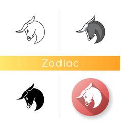 Taurus zodiac sign icon vector