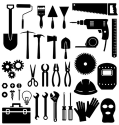 Tools icon on white background vector