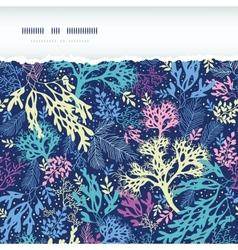 Underwater seaweed horizontal torn seamless vector image