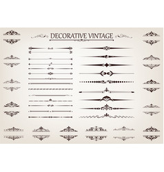 vintage line vector image