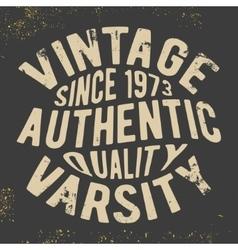 Vintage varsity stamp vector image