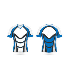 White blue and black layout e-sport t-shirt vector
