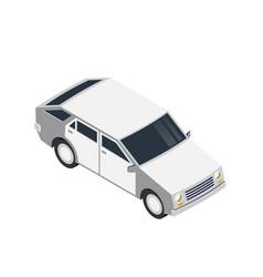 white car icon vector image