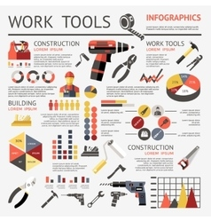 Work Tools Infographic vector image