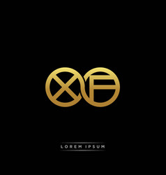 Xf initial letter linked circle capital monogram vector
