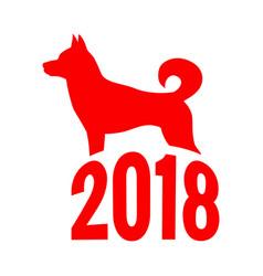 year of the dog chinese zodiac symbol of 2018 dog vector image