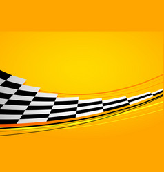 yellow racing background vector image vector image