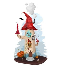 halloween house vector image vector image