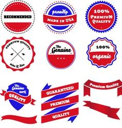 set of badges labels and ribbon vector image