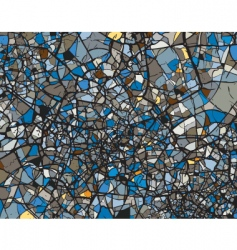 shattered blues vector image