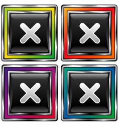 square icons vector image vector image
